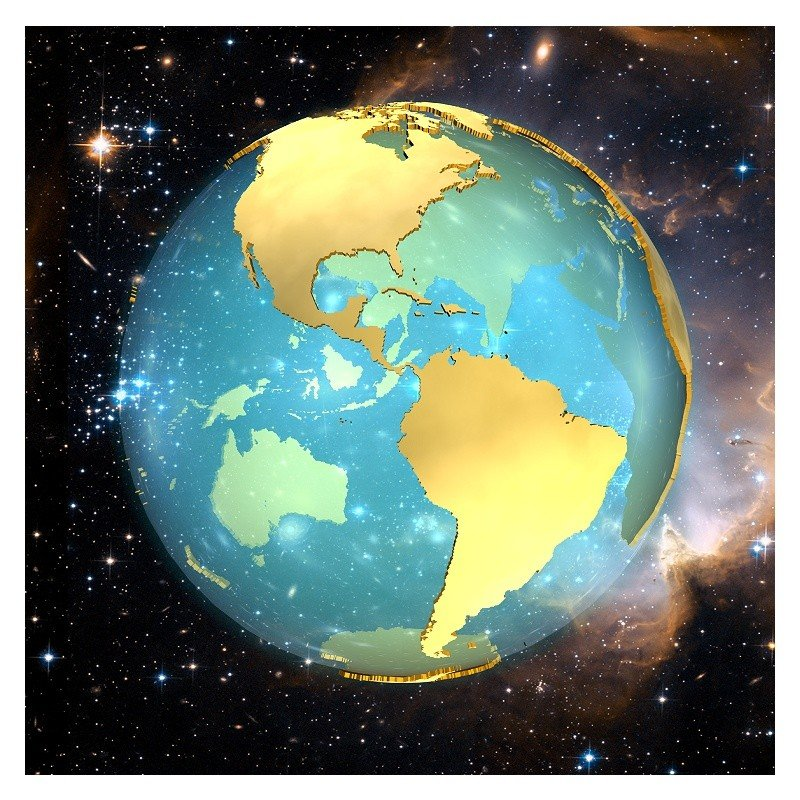 3D Earth View 1 America