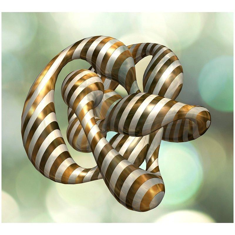 3D Gold Glass Knot