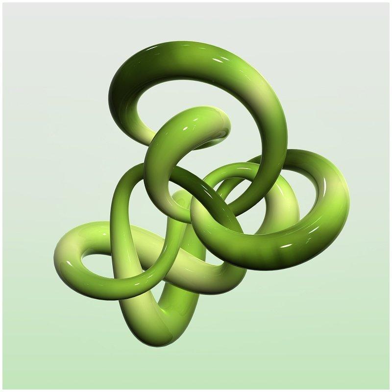 3D Green Glass Knot