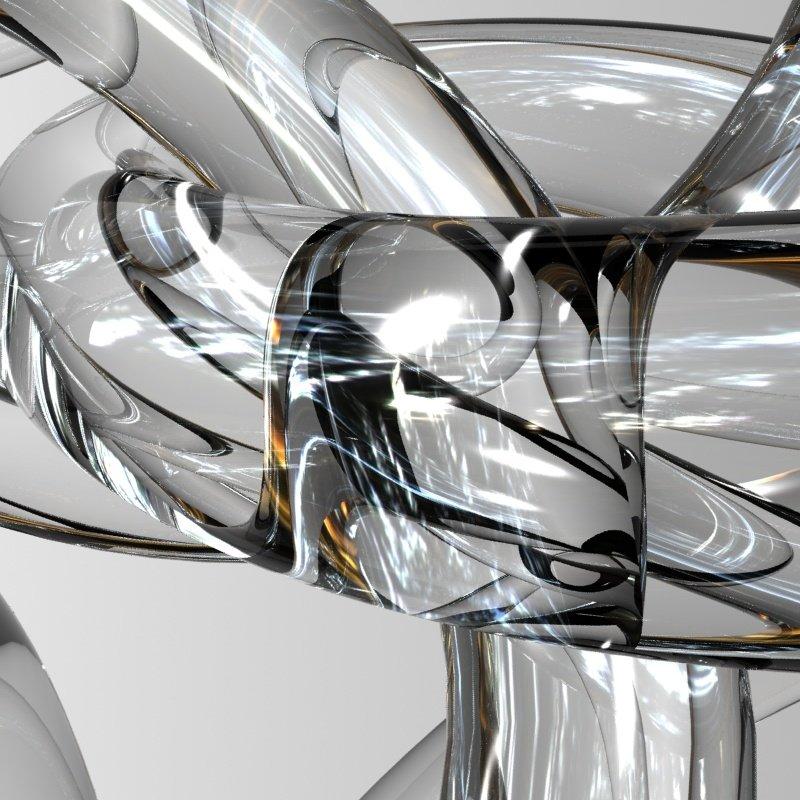 3D Glass Knot