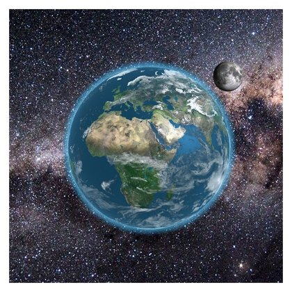 3D Earth & Moon - Europe