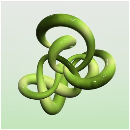 3D Green Glass Knot