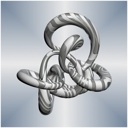 3D Silver Glass Knot